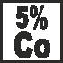 5% cobalt